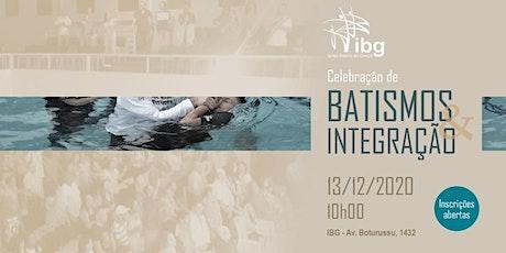 Celebração de Batismos e Integração de Novos Membros ingressos