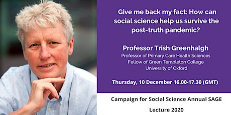 Campaign for Social Science Annual SAGE Lecture 2020 tickets