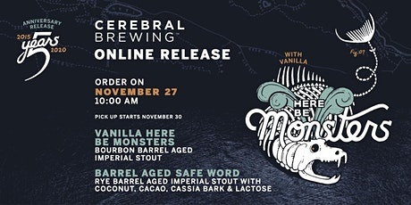 Vanilla Here Be Monsters + BA Safe Word Bottle Release tickets