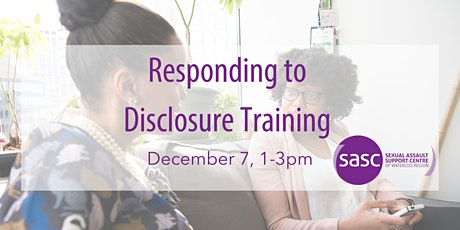 Responding to Disclosure Training tickets