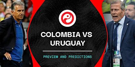 TV/VIVO.-Colombia V Uruguay en viv y E.n Directo ver Partido online entradas