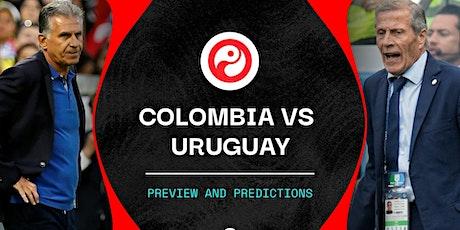 TV/VER.-Colombia V Uruguay en viv y E.n Directo ver Partido online entradas