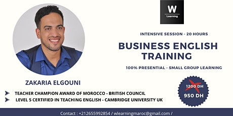 Business English Training - Intensive Session billets