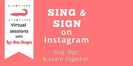 Sing & Sign on Instagram
