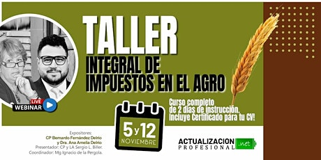 GRABACION - Taller Integral de Impuestos en el Agro entradas
