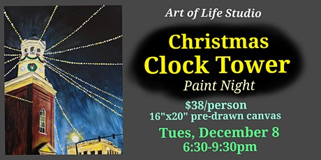 Paint Night: Christmas Clock Tower tickets