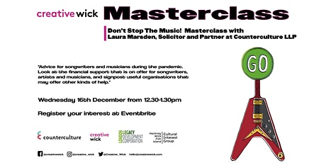Don't Stop the Music!  Masterclass tickets