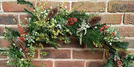 Christmas willow wreath making workshops + kits tickets
