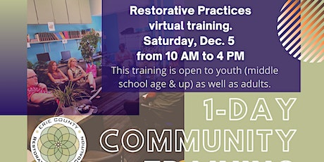 1-Day Restorative Practices Community Training tickets