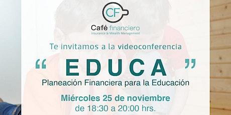 """Taller EDUCA """"Planeación Financiera para la Educación"""" entradas"""