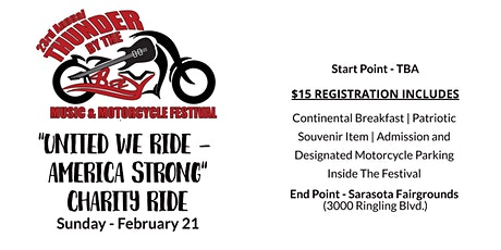 """""""United We Ride - America Strong"""" Charity Ride tickets"""