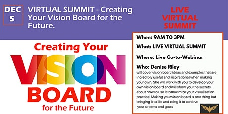 LIVE VIRTUAL SUMMIT: Creating Your Vision Board for Success tickets