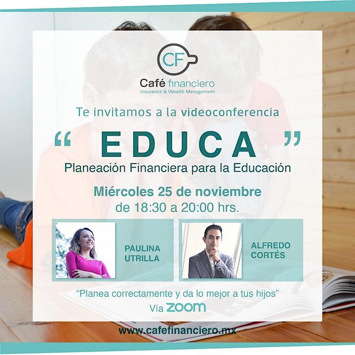 """Imagen de Taller EDUCA """"Planeación Financiera para la Educación"""""""