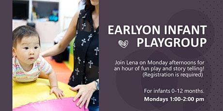 Pick Your Date: Monday Indoor Infant EarlyON Playgroup tickets