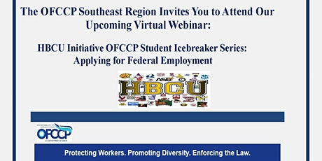 HBCU Initiative OFCCP Icebreaker Series: Applying for Federal Employment tickets