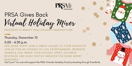 PRSA Gives Back Virtual Holiday Mixer tickets