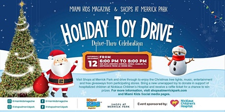 Miami Kids Magazine & Shops at Merrick Park Holiday Toy Drive Celebration billets