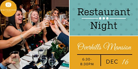 Whitehouse Caterers' December Restaurant Night at Overhills Mansion tickets