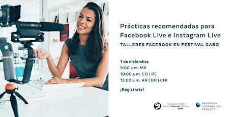 Prácticas recomendadas para Facebook Live e Instagram Live entradas