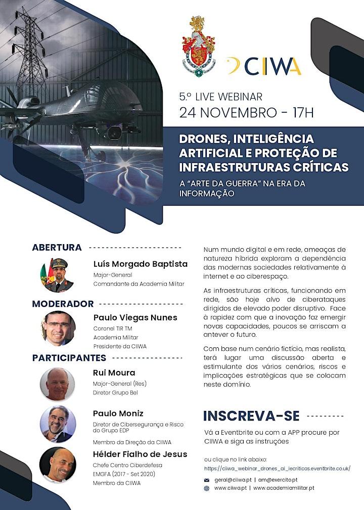 CIIWA Webinar #5 Drones, AI e a Proteção de Infraestruturas Criticas image