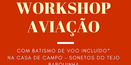 Workshop Aviação bilhetes