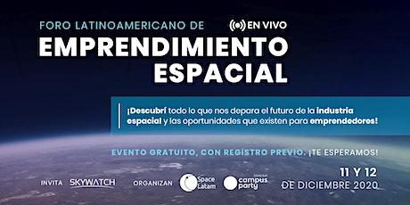 Foro Latinoamericano de Emprendimiento Espacial entradas