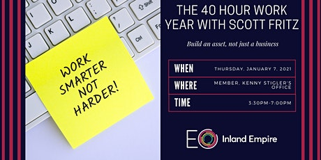 The 40 Hour Work Year With Scott Fritz tickets