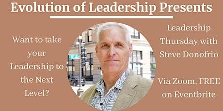 LEADERSHIP THURSDAY WITH STEVE DONOFRIO tickets