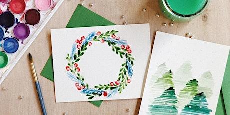 Virtual: Watercolor Wreaths tickets