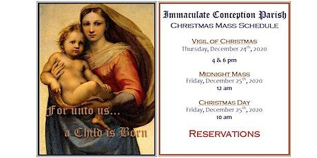 Christmas Masses tickets