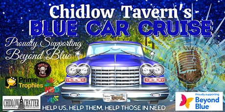 Chidlow Tavern's Blue Car Cruise proudly supporting Beyond Blue tickets