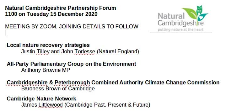 Natural Cambridgeshire Partnership Forum image