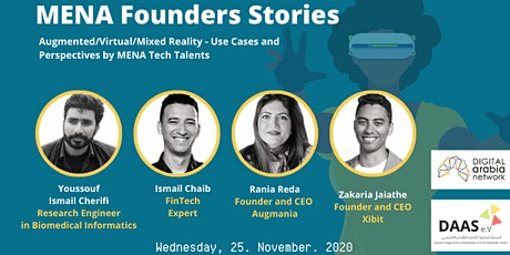 MENA Founders Stories: Augmented Reality/Virtual Reality/Mixed Reality tickets