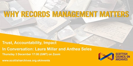 Why Records Management Matters: Laura Millar and Anthea Seles tickets