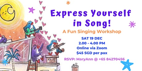 Online Workshop: Express Yourself in Song! tickets