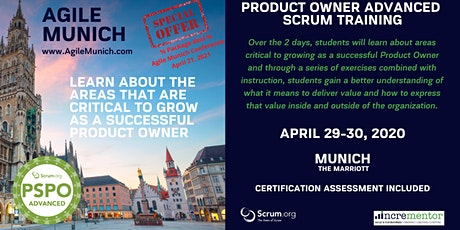 Agile Munich | Certified Training | Product Owner - Advanced (PSPO-A) Tickets