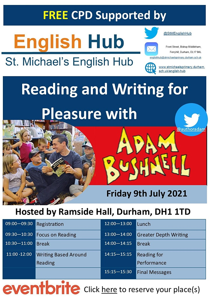 Adam Bushnell - Reading and Writing For Pleasure image