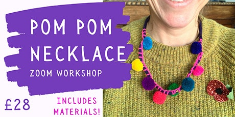 POM POM Necklace Zoom Workshop tickets