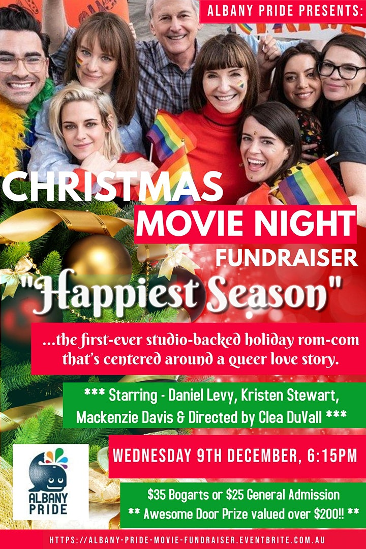 Christmas Movie Fundraiser for Albany Pride 2021 image