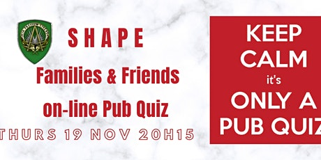 SHAPE  ON-LINE QUIZ tickets
