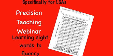 Precision Teaching - for Learning Support Assistants tickets