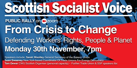 RALLY: FROM CRISIS TO CHANGE: defending workers' rights, people and planet tickets