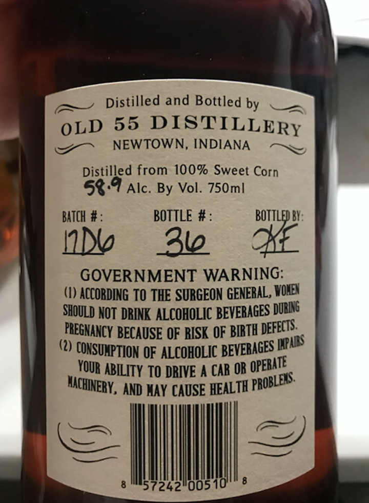Rare Whiskey Tasting: Old 55 Sweet Corn - Regular + Barrel Strength/Samples image