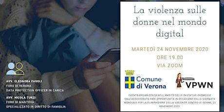 La violenza sulle donne nel mondo digitale tickets