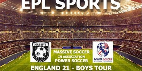 INTERNATIONAL SOCCER TOUR - ENGLAND - BOYS 2021 tickets