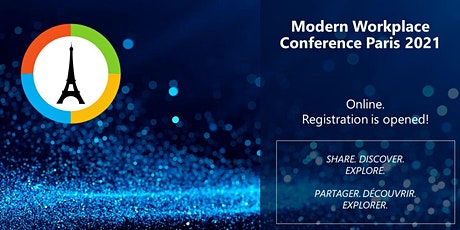Modern Workplace Conference Paris 2021 online tickets