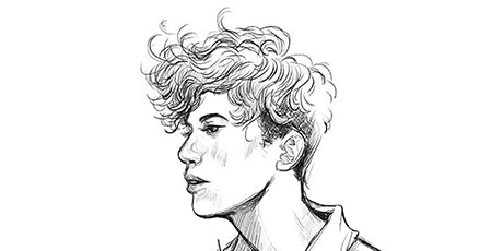60min Pencil Sketching  Art Lesson - BTS Boy  @4PM (Ages 6+) tickets