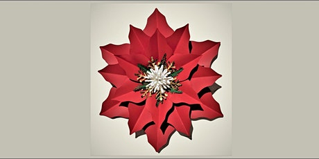 Paper Poinsettia and Wine Class 20201219 tickets