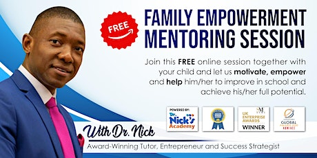 FREE FAMILY EMPOWERMENT MENTORING SESSION (LIVE ON ZOOM) tickets