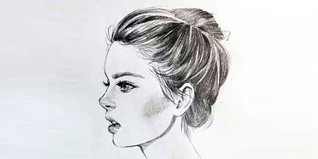 60min Pencil Sketching  Art Lesson - Portrait of a Girl  @4PM (Ages 6+) tickets